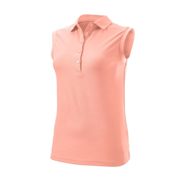 Wilson Staff Authentic Sleeveless Polo Damen pink
