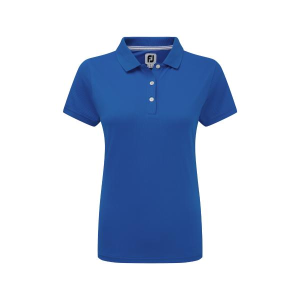 Footjoy Stretch Pique Solid Polo Damen blau