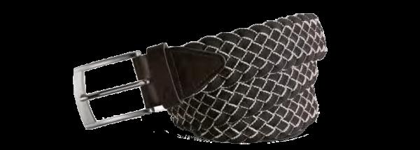 Alberto Gürtel -Wide Braided Unisex schwarz