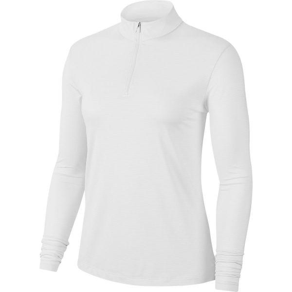 Nike Dri-Fit Victory UV 1/2-Zip longsleeve Polo Damen weiß