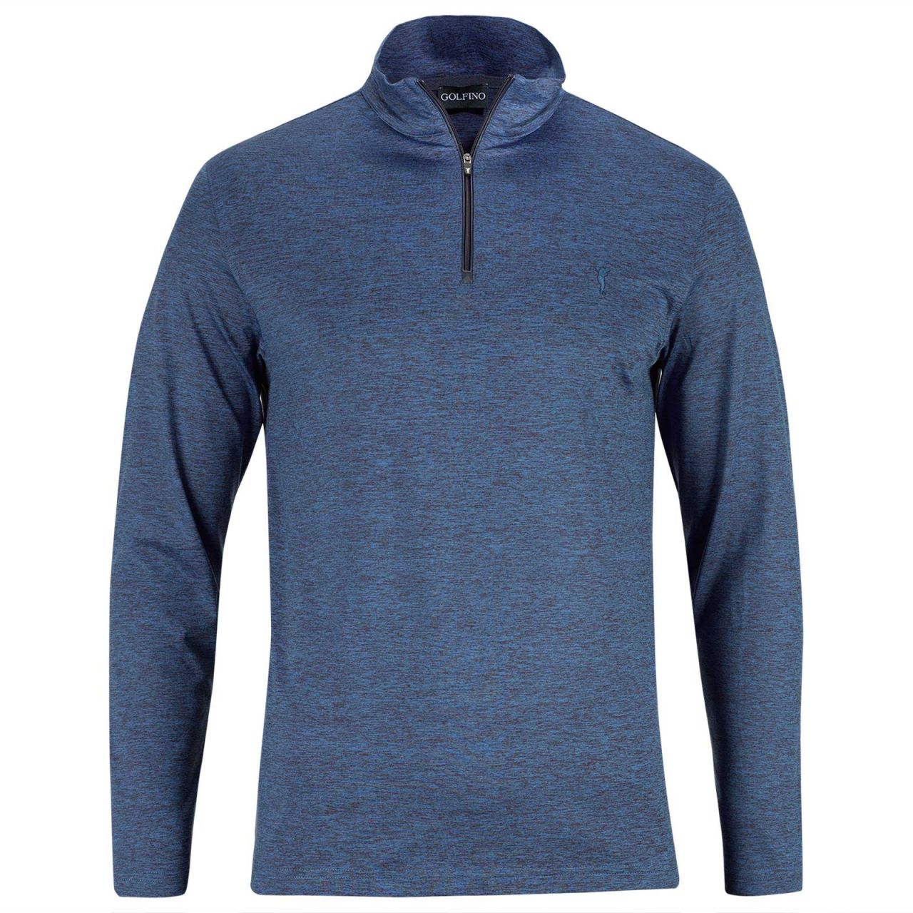 Golfino Modena Stretch Melange Pullover Herren blau