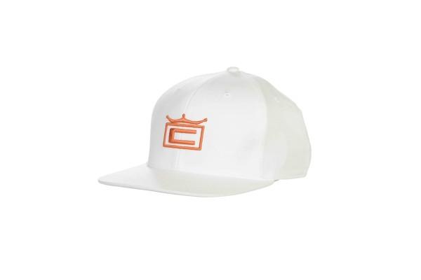 Cobra TOUR CROWN 110 Cap weiß/orange
