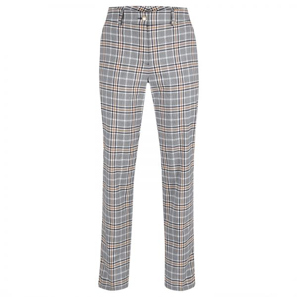 Golfino Blossom checked Stretch 7/8-Hose Damen weiß/navy