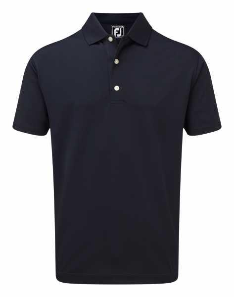 Footjoy Stretch Pique Solid Rib Knit Collar Polo Herren navy