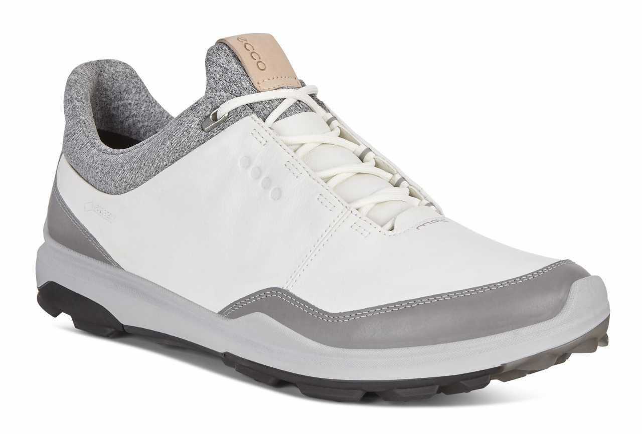 56d9070fa4c44f Ecco Biom Hybrid 3 2018 Herren Golfschuh weiß grau schwarz
