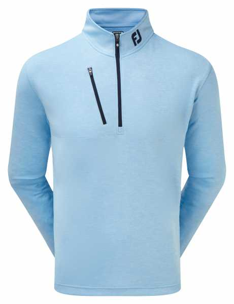 competitive price 10e3e 967f2 Footjoy Heather Pinstripe Chill-Out Pullover Herren hellblau