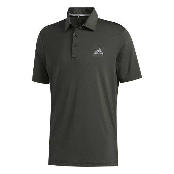 adidas Ultimate 2.0 Solid Left Chest Polo Herren grau