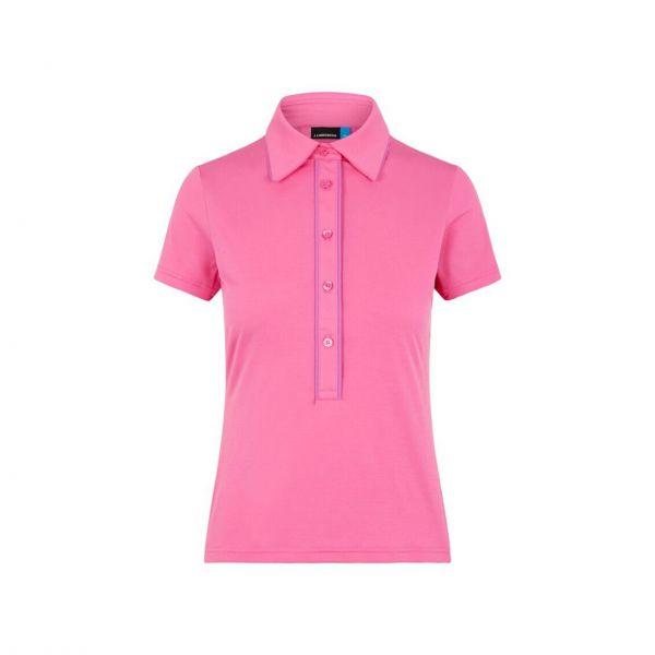 J. Lindeberg Flor-Ultra Light Jersey short sleeve Polo Damen pink