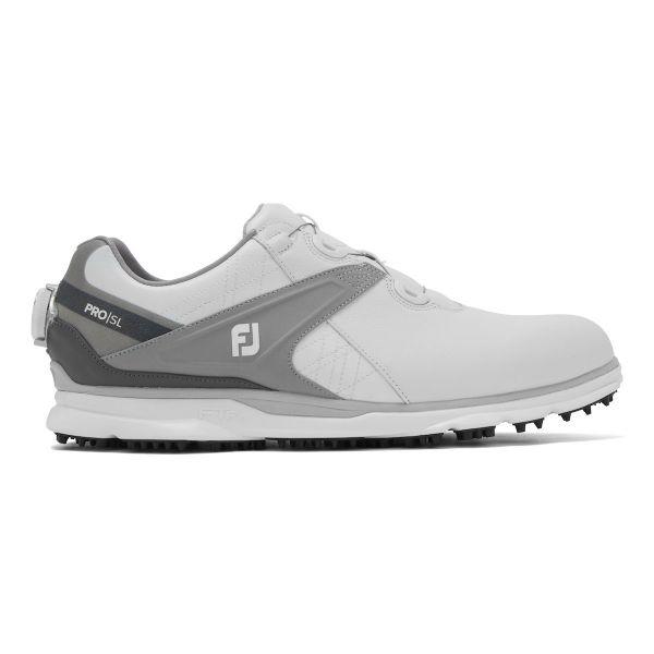 Footjoy PRO SL BOA Golfschuh Herren weiß/grau