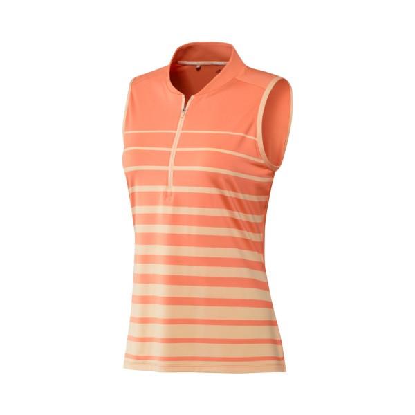 adidas Engineered Stripe sleeveless Polo Damen lachs
