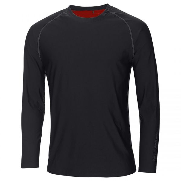 Galvin Green ELMO Skintight Long Sleeve Base Layer Herren schwarz/rot