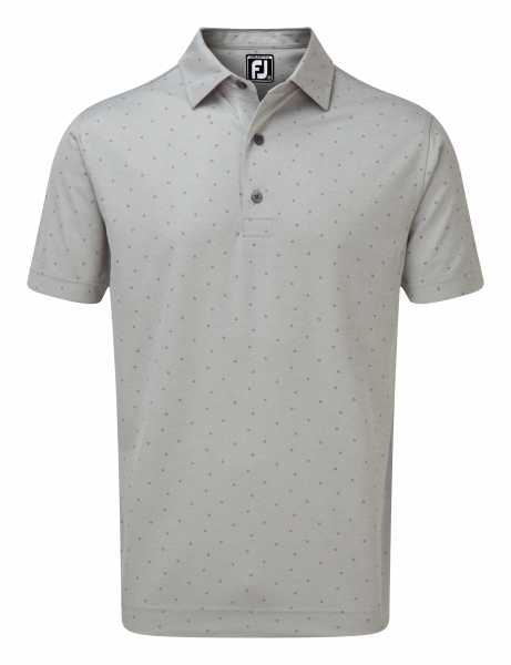 Footjoy Smooth Pique with FJ Print Polo Herren grau