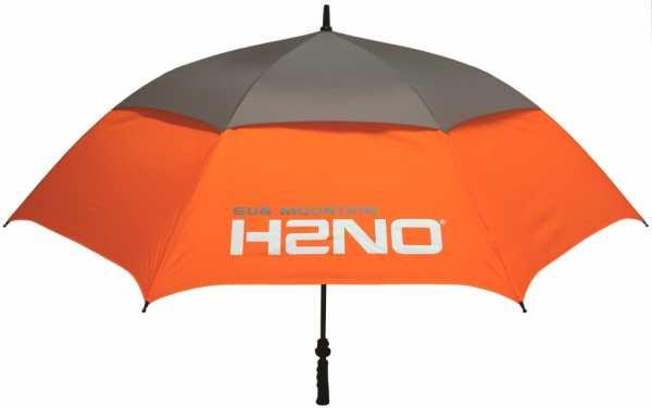 Sun Mountain Regenschirm H2NO orange/grau