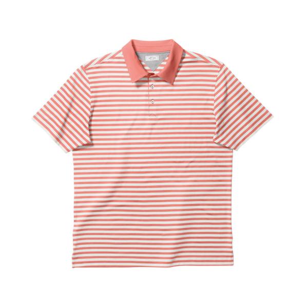adidas Adipure Premium Bold Stripe Polo Herren weiß/orange