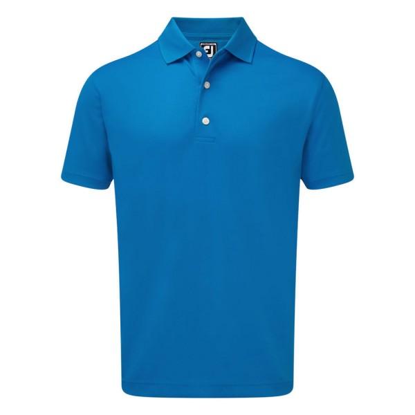 Footjoy Stretch Pique Solid Rib Knit Collar Polo Herren blau
