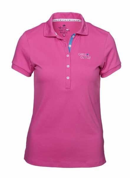 Girls Golf Swing It Right Polo Damen pink