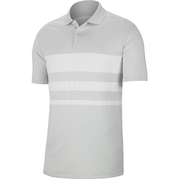 Nike Dri-FIT Vapor Striped Golf Polo Herren grau