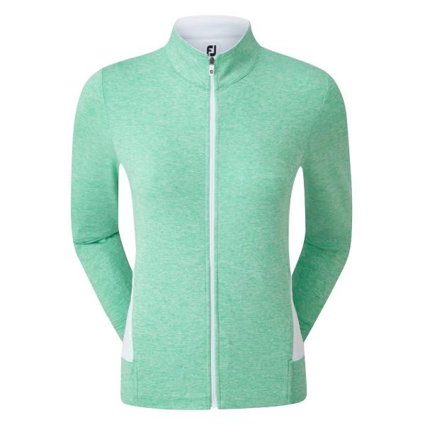 Footjoy Full-Zip Knit Mid-Layer Pullover Damen grün