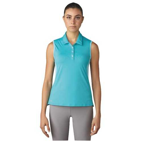 Adidas Essentials 3-Stripes Sleeveless Polo Damen blau