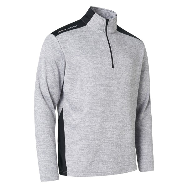 Abacus Sunningdale Half-Zip Pullover Herren hellgrau/schwarz