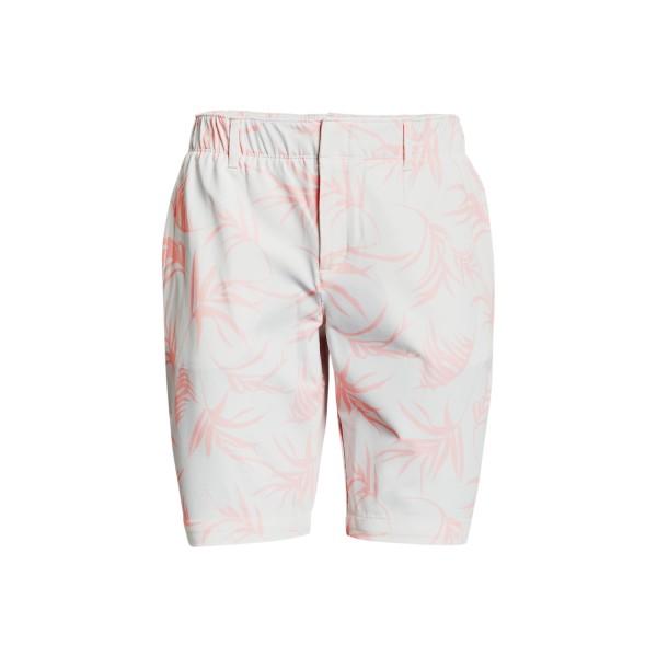 Under Armour Links Golfshorts Damen mit Druck weiß/rosa/grau