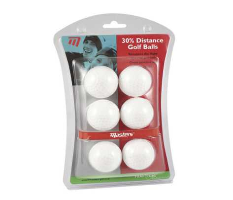 Masters 30% Distance Golf Balls pack of 6