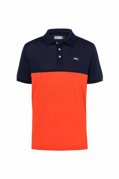 KJUS Luan CB Polo S/S Herren orange/navy