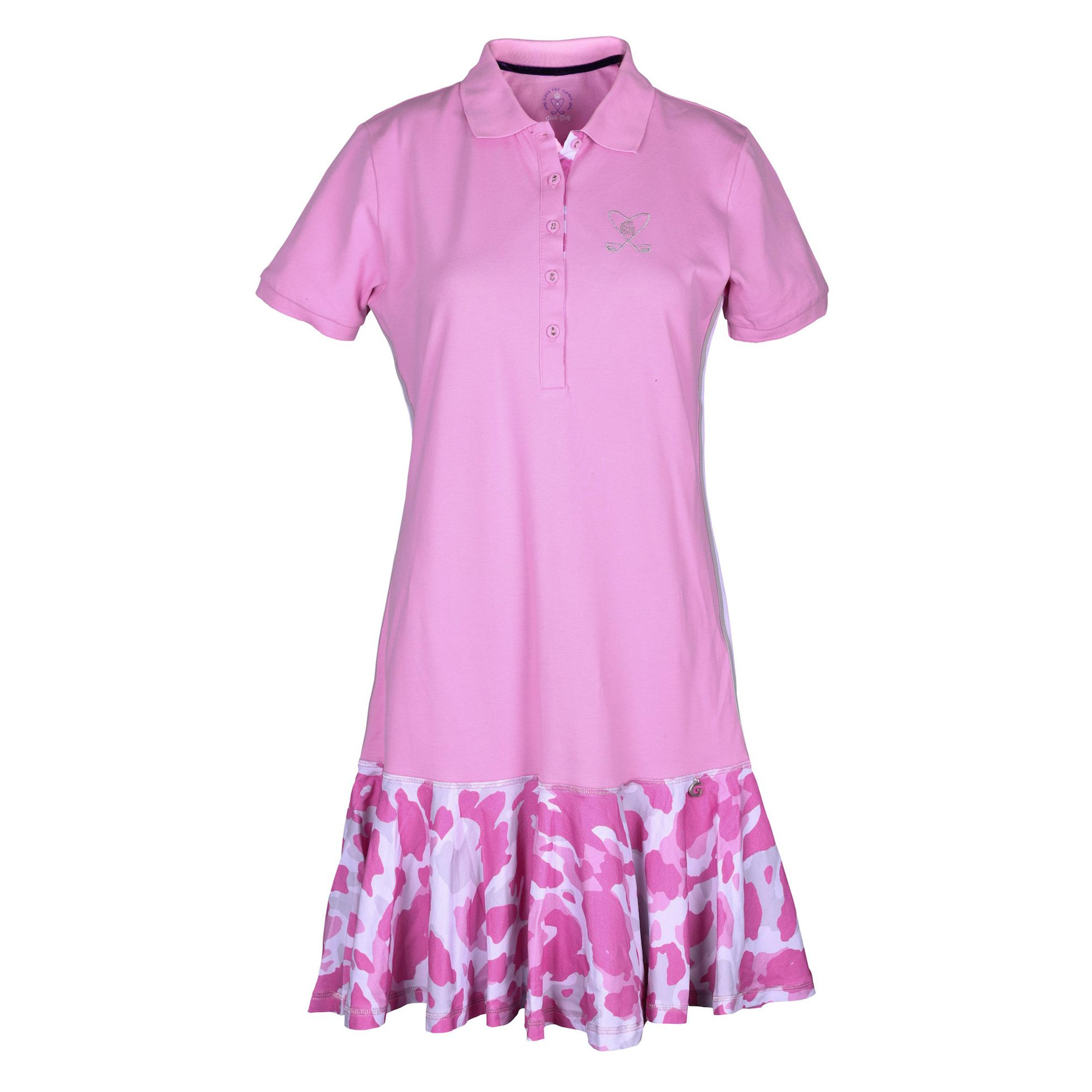 girls golf camo pink kleid damen rose