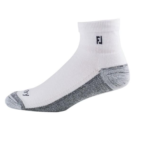 Footjoy ProDry Lightweight Quarter (10cm) Socken Herren weiß/grau