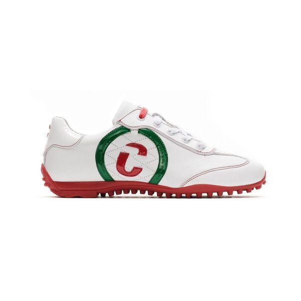 Duca del Cosma Kubana Golfschuh Damen weiß/grün/rot