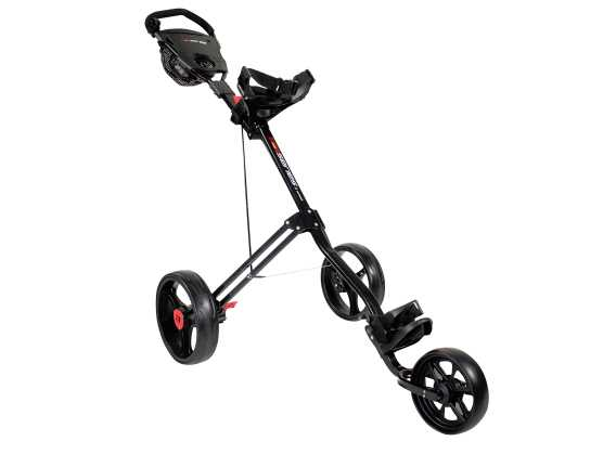 Masters 5 Series 3 Wheel Push Trolley schwarz