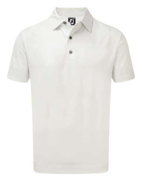 Footjoy Stretch Lisle Engineered Tonal Print Polo Herren weiß