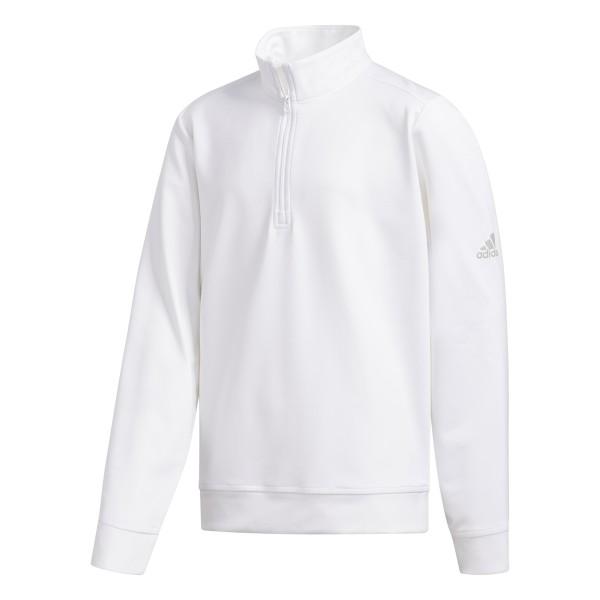 adidas Solid Half-Zip Pullover Jungen weiß