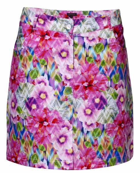 Girls Golf Flower Power Belt Rock Damen pink