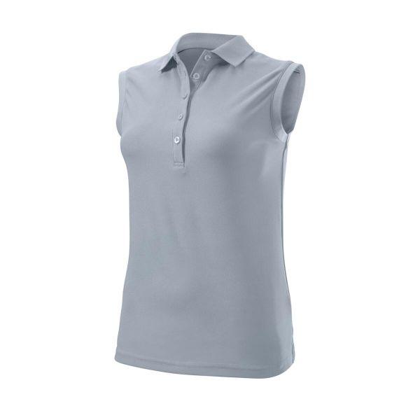 Wilson Staff Authentic Sleeveless Polo Damen grau