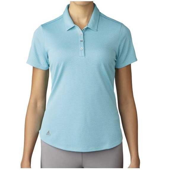 Adidas Microdot Short Sleeve Polo Damen blau